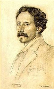 Författarporträtt. C. R. Ashbee by William Strang, 1903.
