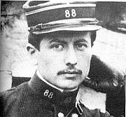 Foto de l'autor. Le Lieutenant Fournier en 1913 aux manoeuvres de Caylus