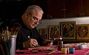 Foto do autor. Professor of studio art and iconographer Fr. Richard G. Cannuli, OSA.