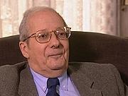 Foto do autor. Claude Nicolet le 6 novembre 2001 lors d'un entretien biographique consistant pour l'émission 'Histoires d'historiens' intitulé 'Une passion raisonnable'
