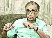 Författarporträtt. C.V. Vishveshwara [credit: The Hindu newspaper]