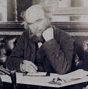 Kirjailijan kuva. Paul Verlaine au café François Ier, photographie de Dornac dans la série « Nos contemporains chez eux », 1892
