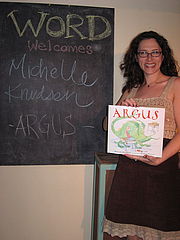 Kirjailijan kuva. Birthday/Book launch party for ARGUS, 2/22/11