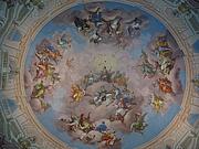 Foto de l'autor. Deckenfresko von Bartolomeo Altomonte, Bibliothekssaal, Stift Admont. Photo by user Fb78 / Wikimedia Commons.