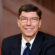Kirjailijan kuva. Clayton M. Christensen is the Robert and Jane Cizik Professor of Business Administration at the Harvard Business School, and is widely regarded as one of the world's foremost experts on innovation and growth.