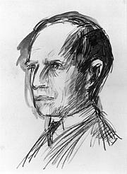 Forfatter foto. Hans Bethge (Wilhelm Lehmbruck: Zeichnung von Hans Bethge, 1916)