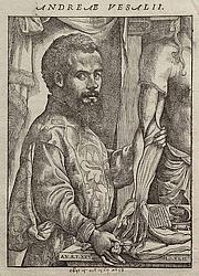"Foto de l'autor. Portrait of Vesalius from his ""De humani corporis fabrica"" (1543)"
