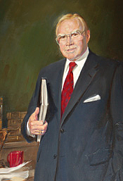 Forfatter foto. Oil on canvas, Marshall Bouldin III, 1991, Collection of U.S. House of Representatives