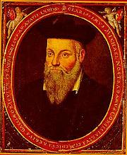 Foto do autor. Portrait of Michel de Nostredame (Nostradamus), Painted by his son César de Nostredame about 1614 A.D.