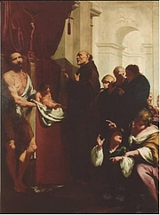 "Forfatter foto. The Miracle of Saint Peter of Alcantara by Giovanni Battista Lucini By Giovanni Battista Lucini - <a href=""http://www.lombardiabeniculturali.it/opere-arte/schede/U0070-00054/?view=ricerca&offset=463"" rel=""nofollow"" target=""_top"">http://www.lombardiabeniculturali.it/opere-arte/schede/U0070-00054/?view=ricerca...</a>, Public Domain, <a href=""https://commons.wikimedia.org/w/index.php?curid=69388616"" rel=""nofollow"" target=""_top"">https://commons.wikimedia.org/w/index.php?curid=69388616</a>"