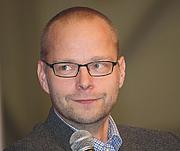 Kirjailijan kuva. Finnish writer Roope Lipasti at Turku Book Fair in 2013 / Anneli Salo