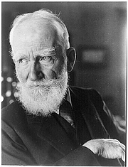 Foto do autor. George Bernard Shaw (1856-1950)