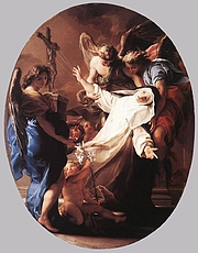 Foto do autor. The Ecstasy of St Catherine of Siena