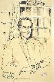 Author photo. Portrait of Allen Drury ~ U.S. Senate Art & History