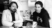 Foto do autor. Will Shetterly and Emma Bull (1994)