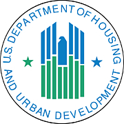 Foto do autor. Seal of the Department of Housing and Urban Development