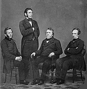 Fotografia dell'autore. The Harper Brothers, circa 1855-1865 <br>(Brady-Handy Photograph Collection, <br>LoC Prints and Photographs Division, <br>LC-DIG-cwpbh-02807)