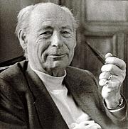 Fotografia de autor. Paul Tournier, (1898-1986) Médecin Suisse (Genève) Il à créé la Médecine de la Pesonne