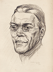 Author photo. sketch by Adrian Graham
