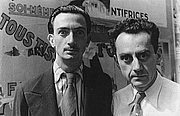 Foto do autor. Man Ray (on right) with Salvador Dali (credit: Carl Van Vechten, Paris, June 16, 1934) (LoC Prints and Photographs, LC-USZ62-42535)