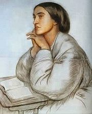 Fotografia de autor. Portrait of Christina Rossetti, by her brother Dante Gabriel Rossetti (Public domain ; Wikipedia)