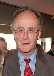 Author photo. Robin James Lane Fox at Financial Times 125th Anniversary Party, London, in June 2013