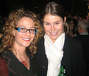 """Foto do autor. Novelists Robin Epstein (left) and Bridie Clark <br> meet at the 2006GalleyCat holiday party  <br>Copyright © 2006 <a href=""""http://ronhogan.tumblr.com"""">Ron Hogan</a>"""