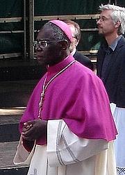 Kirjailijan kuva. Robert Sarah, 2009. Photo by user Carolus / Wikipedia