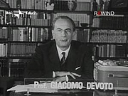 Fotografia de autor. Professor Giacomo Devoto (1897-1974)