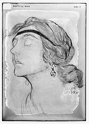 Foto do autor. Drawing by Jerome Myers ~ George Grantham Bain Collection (Library of Congress)