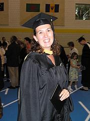 Foto de l'autor. MSW graduation August 2005