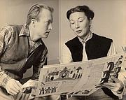 Kirjailijan kuva. Martin Provensen (L) with wife & co-author Alice Provensen