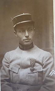Foto de l'autor. Marcel Lelong le 27 Octobre 1916 à PAris