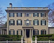 Författarporträtt. The Nelson Aldrich House in Providence, Headquarters of the Rhode Island Historical Society [credit: Daniel Case at the English language Wikipedia]