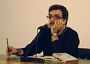 Författarporträtt. Marcello Fois, Biblioteca Delfini, Modena, 2008-04-23, author: Kropotkine 113 (Wikipedia user)