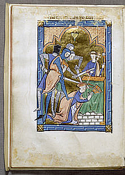Foto do autor. Saint Thomas à Becket / Miniature from an English psalter presenting a spirited account of the murder, c. 1250, Walters Art Museum, Baltimore.