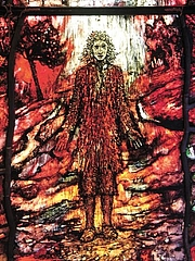 Författarporträtt. Thomas Traherne, depicted by Tom Denny, as part of a series of stained-glass windows at Hereford Cathedral
