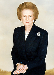 Author photo. Former British Prime Minister Margaret Thatcher. Author: work provided by Chris Collins of the Margaret Thatcher Foundation.