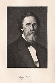 Forfatter foto. Engraving by anonymous artist, printed by O. Felsing (1905)