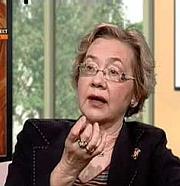 Kirjailijan kuva. Marie-Françoise Baslez le 15 mars 2012 lors d'une émission consacrée à Saint-Paul de Tarse et à l'occasion de la parution de son livre 'Saint-Paul' (Fayard) sur la chaîne TV KTO