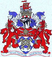 Kirjailijan kuva. Arms of L.B. Hammersmith & Fulham.
