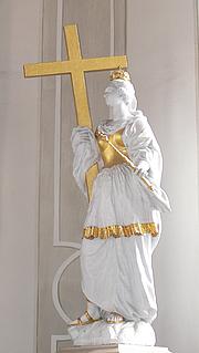 Forfatter foto. St. Helena and the True Cross, Horb am Neckar, Germany, c. 1700.  Photo by Andreas Praefcke / Wikimedia Commons