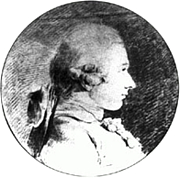 Foto do autor. Portrait of Donatien Alphonse François de Sade<br> by Charles Amédée Philippe van Loo. <br>The drawing dates to 1760, when the Sade was nearly 20 years old. <br>It's the only known authentic portrait of the Marquis <br>(Public domain ; Wikipedia)