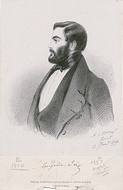 Author photo. Eugène Sue (13 janvier 1844) de Richard James Lane, imprimé par C. Graf, publié par Goupil & Vibert, d'après Alfred, lithographie du comte d'Orsay