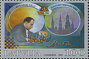 Foto de l'autor. Mihails Tāls (commemorative stamp)
