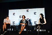 """Author photo. Aminatta Forna discusses fiction through a different lens with Valeria Luiselli and R.O. Kwon at the National Book Festival, August 31, 2019. Photo by Kimberly T. Powell/Library of Congress. By Library of Congress Life - 20190831KP0168.jpg, CC0, <a href=""""https://commons.wikimedia.org/w/index.php?curid=82899206"""" rel=""""nofollow"""" target=""""_top"""">https://commons.wikimedia.org/w/index.php?curid=82899206</a>"""