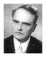 Kirjailijan kuva. Előd Halász (1920-1997) professor at University of Szeged