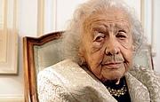 Kirjailijan kuva. Jacqueline de Romilly, en 2008 à l'occasion de l'hommage qui lui était rendu par le gouvernement grec pour sa «contribution exceptionnelle» à la littérature grecque