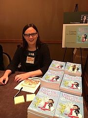 """Author photo. Dana Simpson at the 2016 Winter Institute, in January, 2016, promoting 'Unicorn vs. Goblins.' By Pedantia - Own work, CC BY-SA 4.0, <a href=""""https://commons.wikimedia.org/w/index.php?curid=64380464"""" rel=""""nofollow"""" target=""""_top"""">https://commons.wikimedia.org/w/index.php?curid=64380464</a>"""