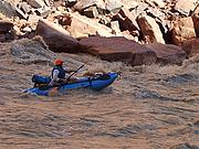 Foto de l'autor. Paddling the Colorado River in the Grand Canyon